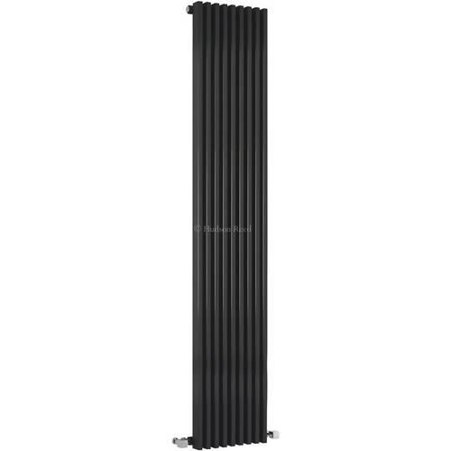 Additional image for Parallel Designer Radiator (Black). 342x1800mm.