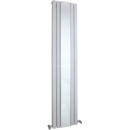 Additional image for Sloane Mirror Radiator (White). 381x1800mm.