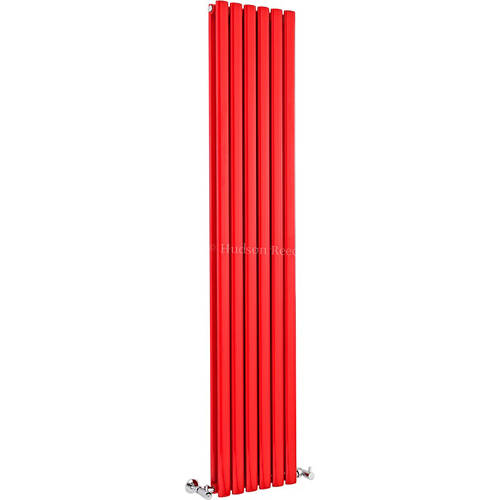 Additional image for Revive Red Radiator (Red). 354x1800mm. 3357 BTU.