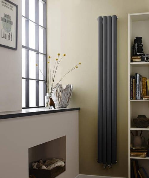 Additional image for Revive Vertical Radiator (Anthracite). 1800x236mm.