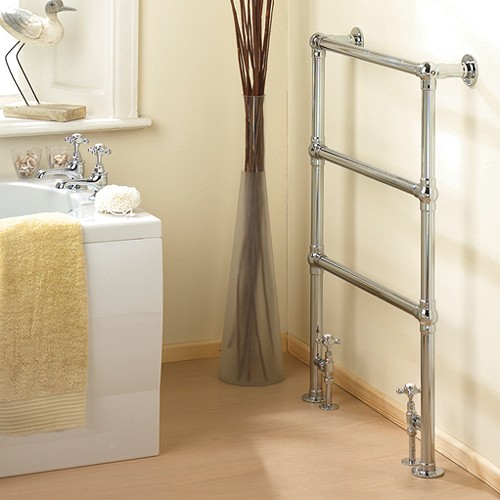 Additional image for Countess heated towel rail (chrome). 660x940mm. 864 BTU