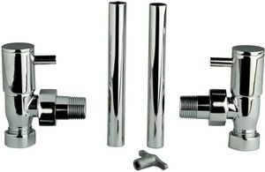 Additional image for Angled minimalist radiator valves (pair)