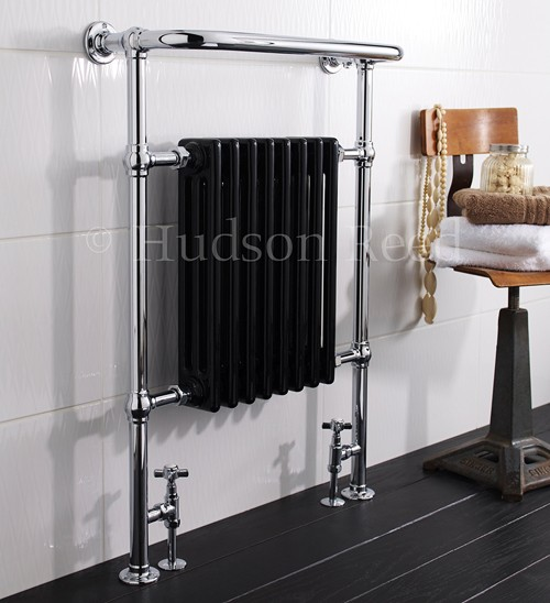 Additional image for Marquis Heated Towel Rail (Chrome & Black). 675x960mm.