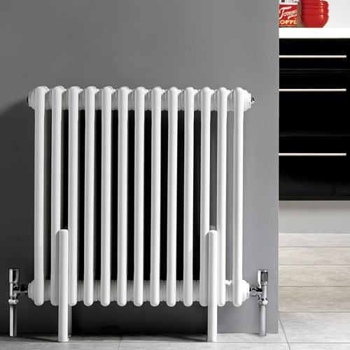 Additional image for 4 x Floor Mounting Radiator Legs (White).