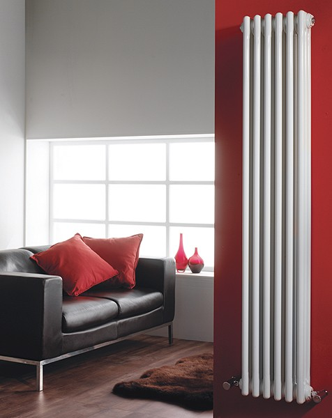 Additional image for 3 Column Vertical Radiator (White). 291x1500mm.