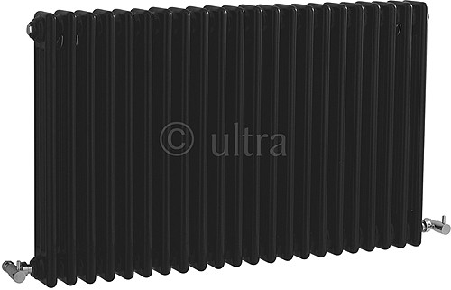 Additional image for Triple Column Radiator (Black). 1011x600mm.