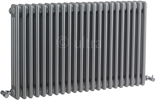 Additional image for Triple Column Radiator (Silver). 1011x600mm.