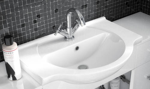 Additional image for Vanity Unit Pack With Type 1 Basin & Mirror (1200mm, White).