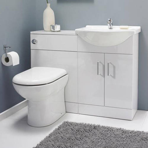 Additional image for Vanity Pack With Pan & Square Basin 1050mm (RH, White).