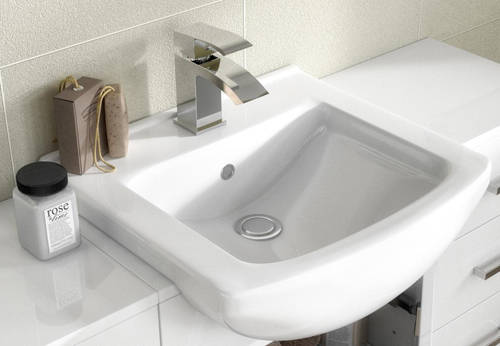 Additional image for 550mm Vanity Unit With Basin Type 2 & 500mm WC Unit (White).