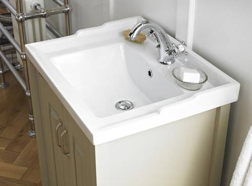 Additional image for 800mm Vanity & 600mm Mirror Pack (Ivory).