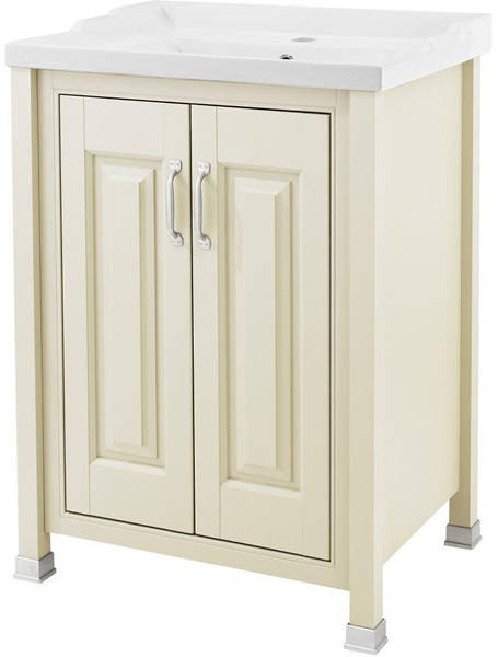 Additional image for 600mm Vanity, 600mm WC & Tall Unit Pack (Ivory).