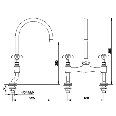 Additional image for Bridge sink mixer