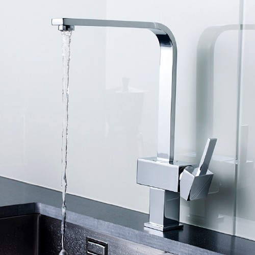 Additional image for Single Lever Side Action Kitchen Tap (Chrome).
