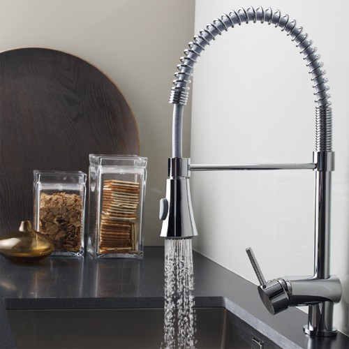 Additional image for Pull Out Spray Kitchen Tap (Chrome).