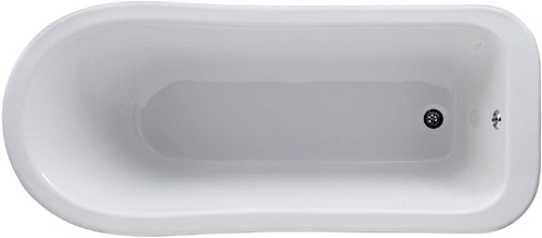 Additional image for Kensington 1500mm Slipper Bath With Toilet & Basin.