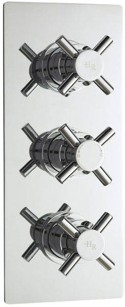 Additional image for Triple Concealed Shower Valve With Diverter (Chrome).