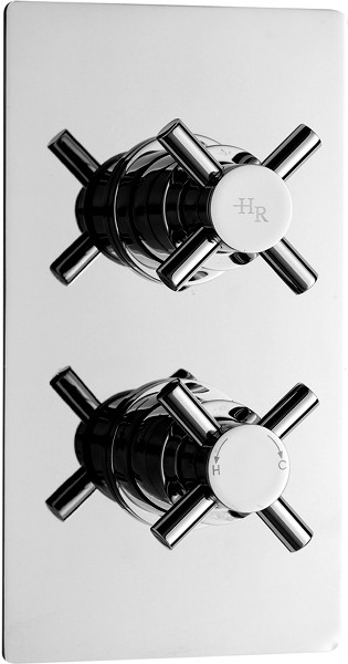 "Additional image for 3/4"" Thermostatic Concealed Twin Shower Valve."