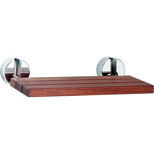 Additional image for Folding shower seat with chrome hinges