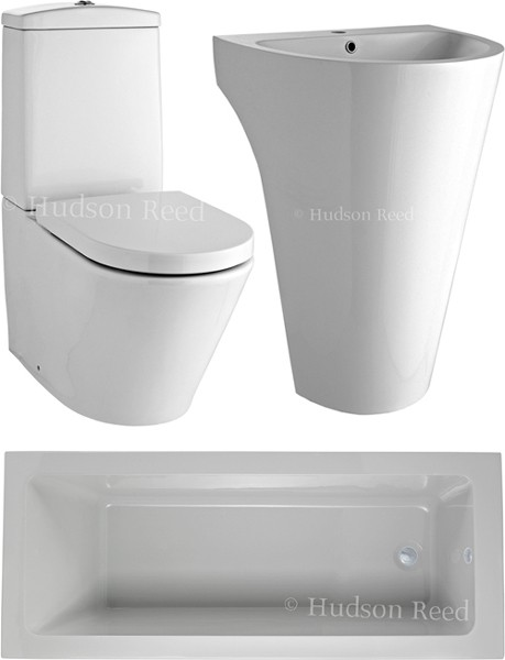 Additional image for Bathroom Suite With Toilet, Basin & Bath (1800x800).