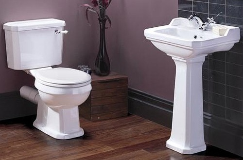 Additional image for Traditional Close Coupled Toilet With Basin & Full Pedestal.