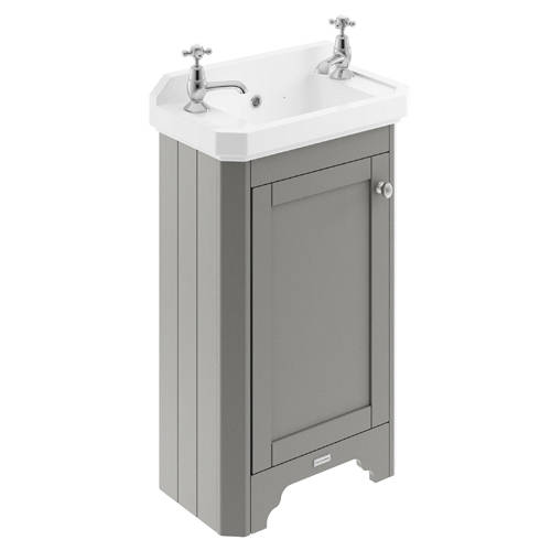 Additional image for Cloakroom Vanity Unit With Basins 515mm (Grey, 2TH).