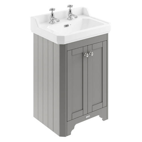 Additional image for Vanity Unit With Basins 595mm (Grey, 2TH).