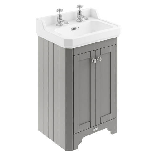 Additional image for Vanity Unit With Basins 560mm (Grey, 2TH).