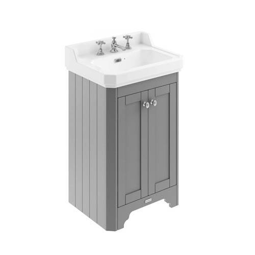 Additional image for Vanity Unit With Basins 560mm (Grey, 3TH).