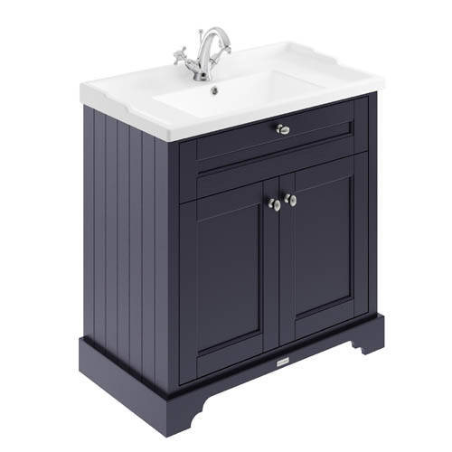Additional image for Vanity Unit With Basins 800mm (Blue, 1TH).