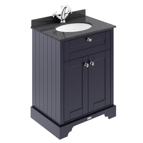 Additional image for Vanity Unit, Basin & Black Marble 600mm (Blue, 1TH).