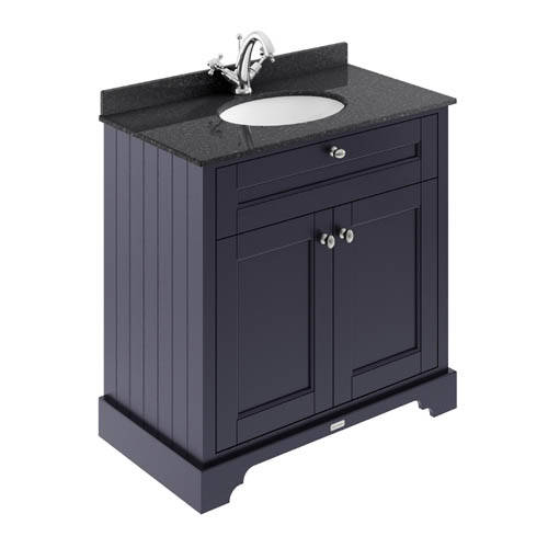 Additional image for Vanity Unit, Basin & Black Marble 800mm (Blue, 1TH).