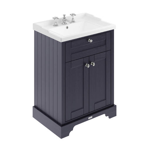 Additional image for Vanity Unit With Basins 600mm (Twilight Blue, 3TH).