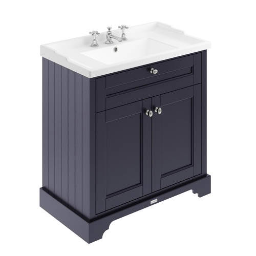 Additional image for Vanity Unit With Basins 800mm (Blue, 3TH).