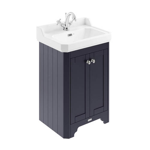 Additional image for Vanity Unit With Basins 595mm (Blue, 1TH).