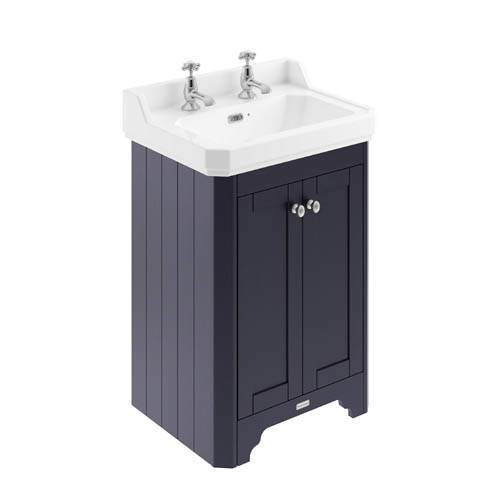 Additional image for Vanity Unit With Basins 595mm (Blue, 2TH).