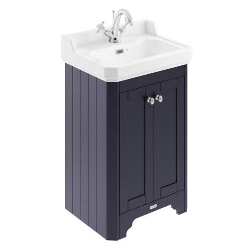 Additional image for Vanity Unit With Basins 560mm (Blue, 1TH).