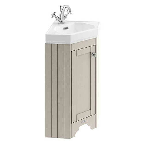 Additional image for Corner Vanity Unit With Basins (Timeless Sand, 1TH).