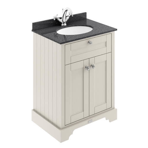 Additional image for Vanity Unit, Basin & Black Marble 600mm (Sand, 1TH).