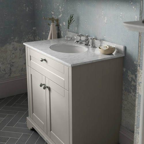 Additional image for Vanity Unit, Basin & Grey Marble 800mm (Sand, 3TH).