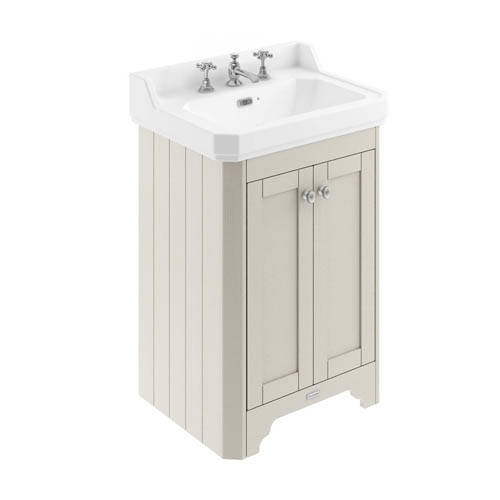 Additional image for Vanity Unit With Basins 595mm (Sand, 3TH).