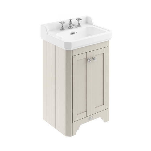 Additional image for Vanity Unit With Basins 560mm (Sand, 3TH).