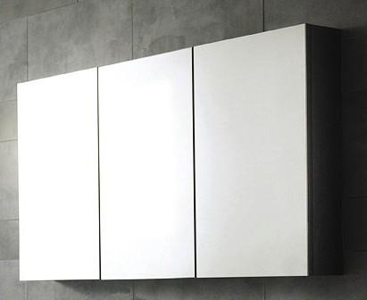 3 Door Mirror Bathroom Cabinet 1350x700x150mm Hudson Reed Quartet U Lq006