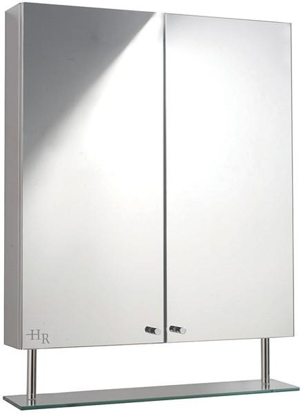Dakota Stainless Steel Mirror Bathroom Cabinet Hudson Reed