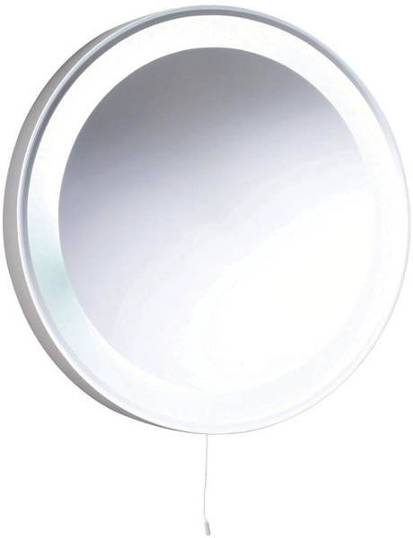 Additional image for Verdi Backlit Bathroom Mirror. 550mm Diameter.