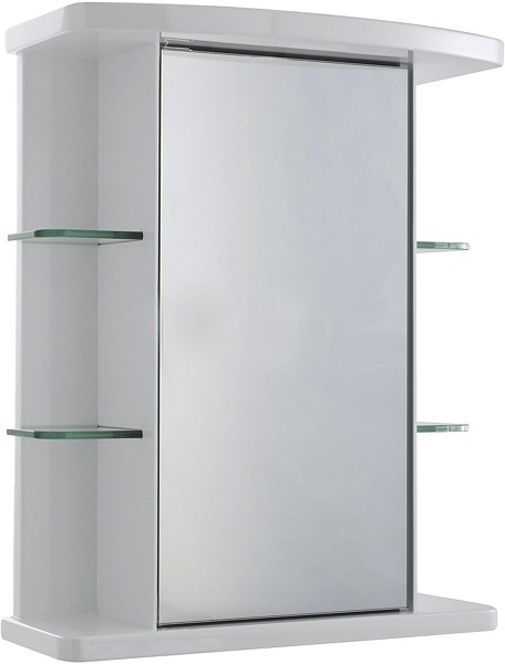Additional image for Verve Mirror Bathroom Cabinet. 530x670x255mm.