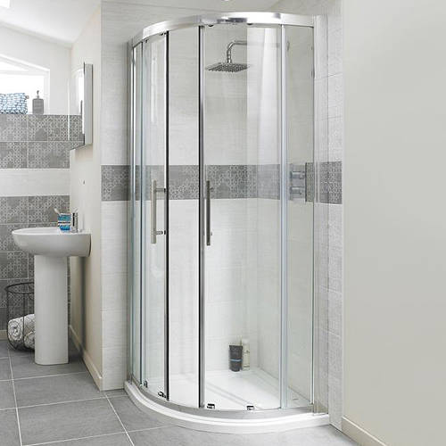 Additional image for Apex Quadrant Shower Enclosure With 8mm Glass (1000mm).