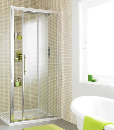 Additional image for Apex Sliding Shower Door With 8mm Glass (1100mm).