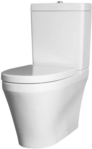 Additional image for Flush To Wall Toilet With 420mm Basin & Full Pedestal.