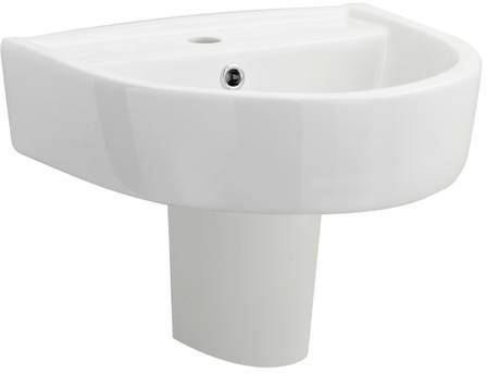 Additional image for Semi Flush Toilet With 420mm Basin & Semi Pedestal.
